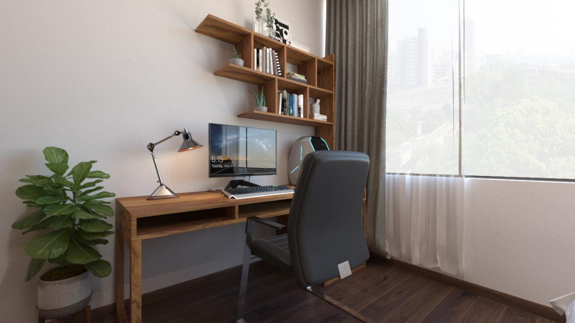 Căn hộ 3 phòng ngủ trở nên sang trọng, hiện đại hơn nhờ chất liệu gỗ tối màu - Ảnh 8.