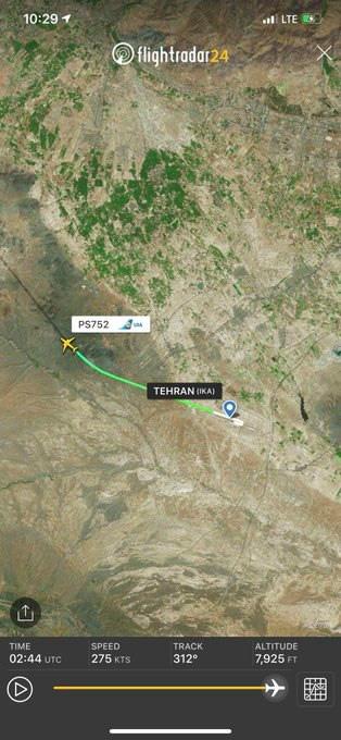 Máy bay Ukraine chở 180 khách rơi sau khi cất cánh ở Iran - Ảnh 2.