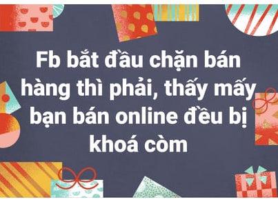 Người dùng Facebook, bán hàng online phản ánh bị khóa like và bình luận - Ảnh 1.