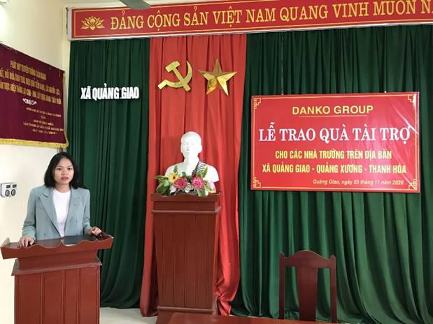 Danko Group trao Quỹ học bổng Danko cho các trường tại xã Quảng Giao, tỉnh Thanh Hóa - Ảnh 3.