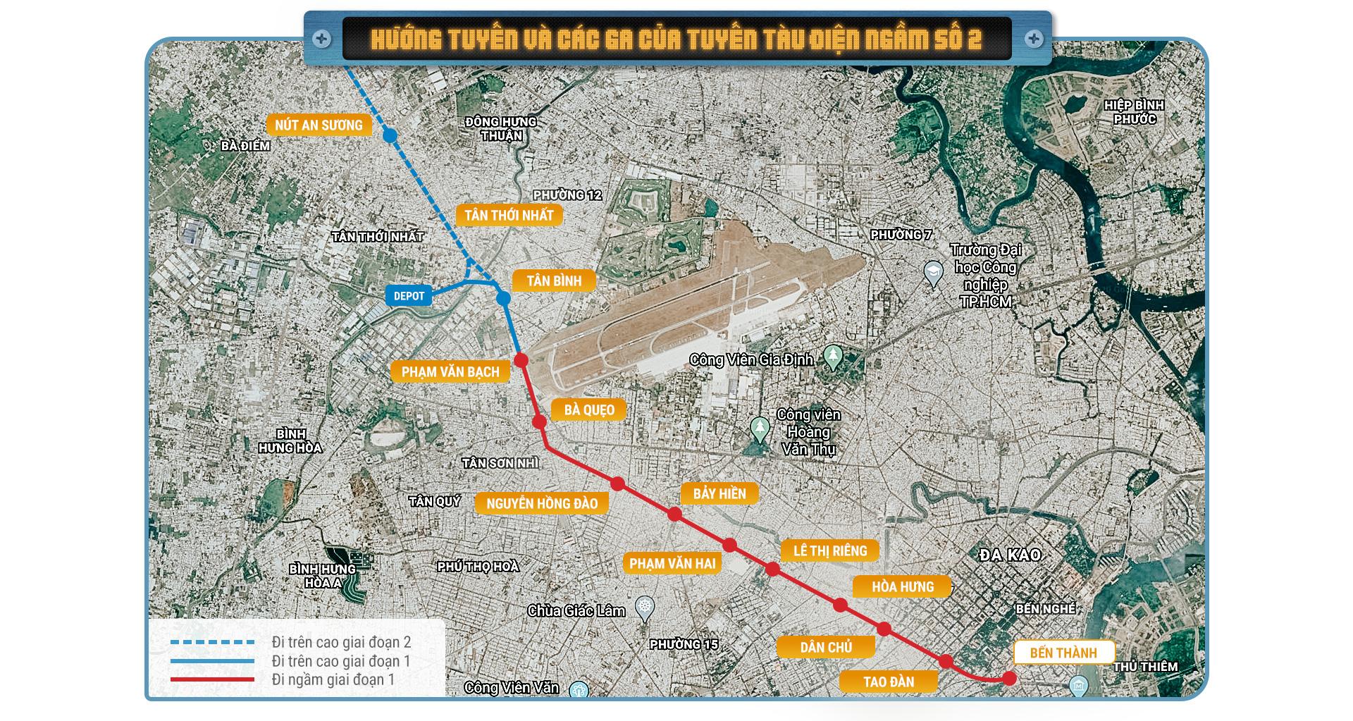 Metro số 2 Bến Thành  - Tham Lương tuyến metro xuyên tâm dài nhất TP.HCM - Ảnh 2.