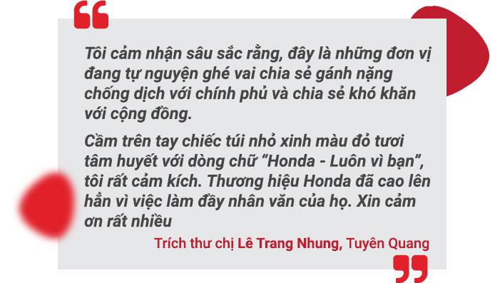 """""""Honda luôn vì bạn - cùng Honda đẩy lùi Corona"""" - Hành trình trao tặng 200,000 túi đỏ kỳ diệu - Ảnh 9."""