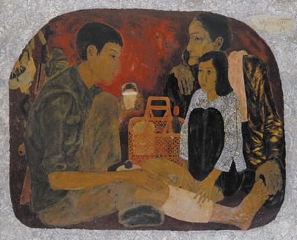 Gặp bà mẹ miền Nam và 'nắng xuân 1975' trong triển lãm mỹ thuật online - Ảnh 2.