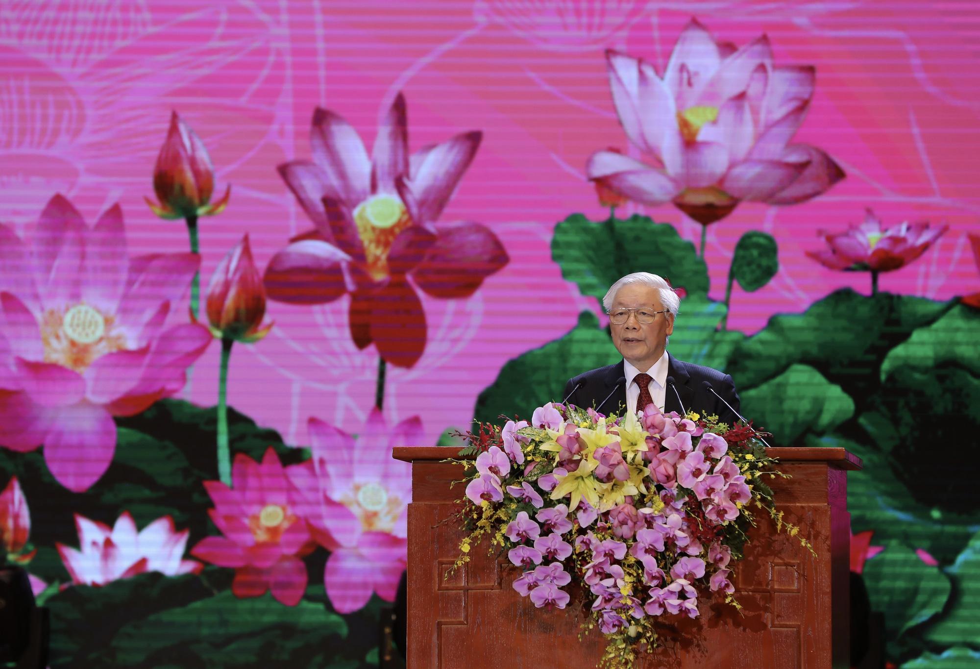 Tổng bí thư, Chủ tịch nước Nguyễn Phú Trọng đã có một bài phát biểu cảm động và sâu sắc về Chủ tịch Hồ Chí Minh - Ảnh: VIỆT DŨNG