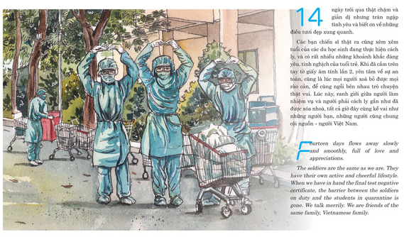 Kiến trúc sư ra sách ký họa cách ly COVID-19 gây quỹ từ thiện - Ảnh 7.