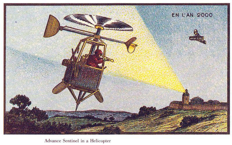 Bất ngờ khi ở thế kỷ 19, người ta đã vẽ máy bay trực thăng, máy lau nhà... - Ảnh 4.