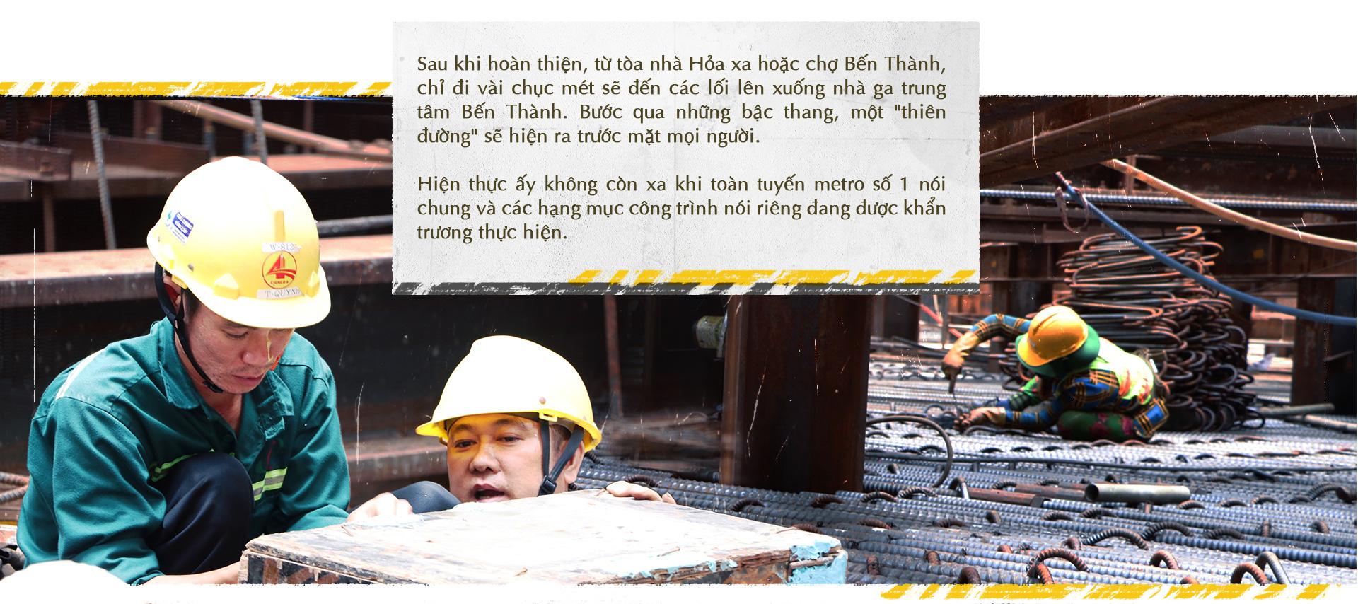 Xuống lòng đất Sài Gòn, khám phá trái tim công trình metro ngầm - Ảnh 12.