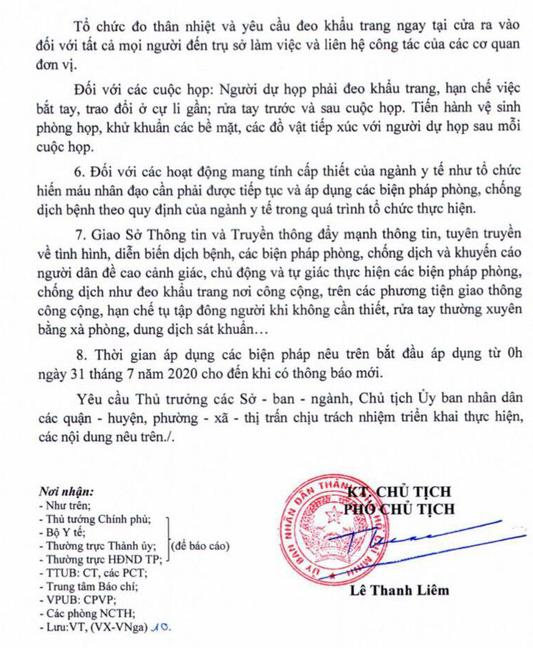 TP.HCM cấm tụ tập quá 30 người ở nơi công cộng, đóng cửa quán bar, vũ trường để phòng chống COVID-19 kể từ 0h ngày 31-7-2020 đến khi có thông báo mới.
