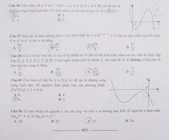 Gợi ý bài giải môn toán thi tốt nghiệp THPT 2020 - Ảnh 5.