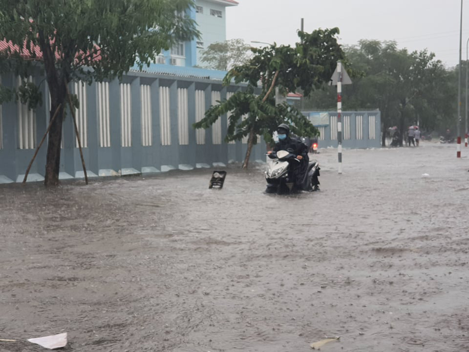 Cây bật gốc đổ ngang đường Nguyễn Tri Phương làm 1 người bị thương, ngập và kẹt xe nhiều nơi - Ảnh 6.
