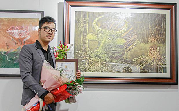 Giảng viên ĐH Duy Tân giành giải nhì Mỹ thuật Đà Nẵng 2020