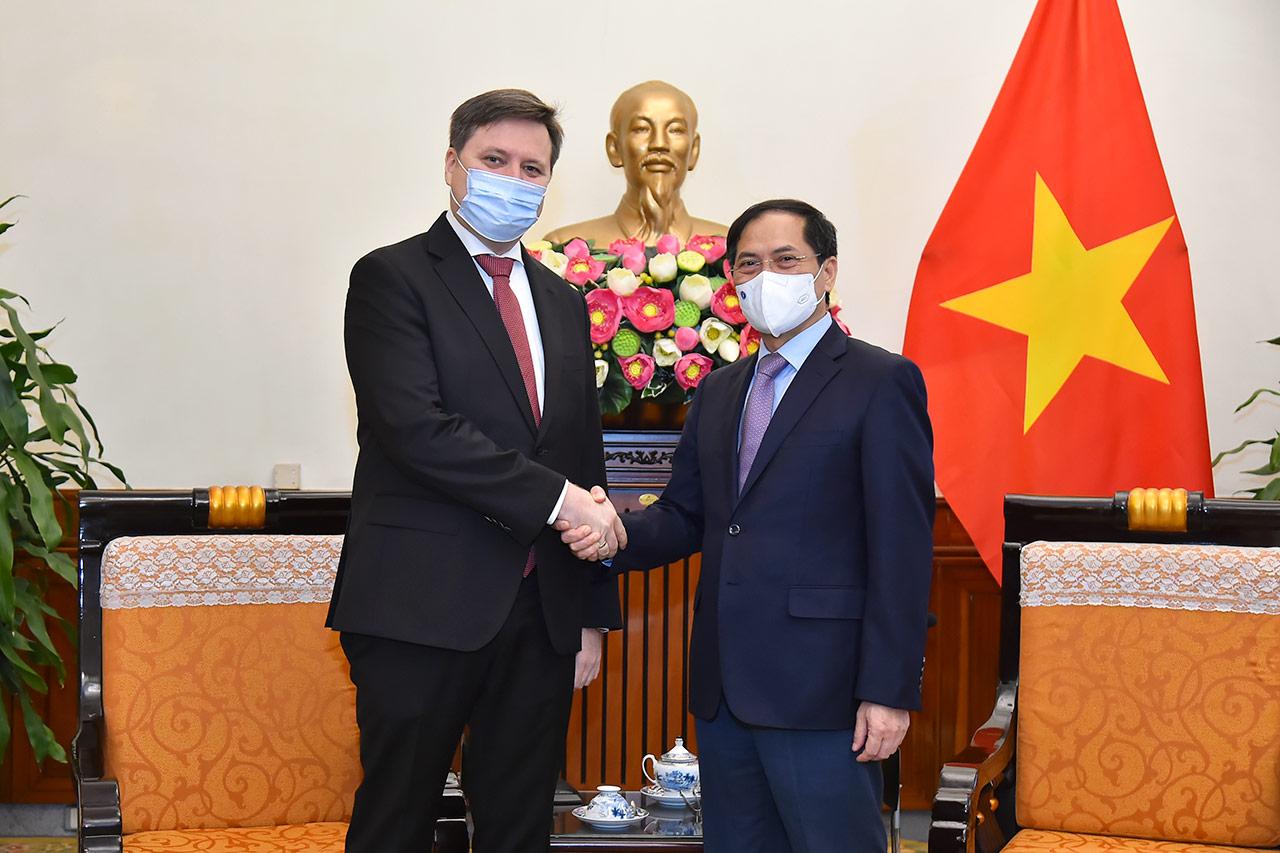Bộ trưởng Bộ Ngoại giao Bùi Thanh Sơn tiếp Đại sứ Cộng hòa Ba Lan tại Việt Nam - Ảnh 1.