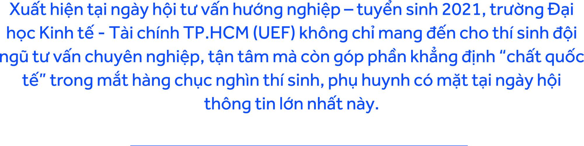 Màu sắc song ngữ, quốc tế: UEF hút thí sinh, phụ huynh - Ảnh 1.