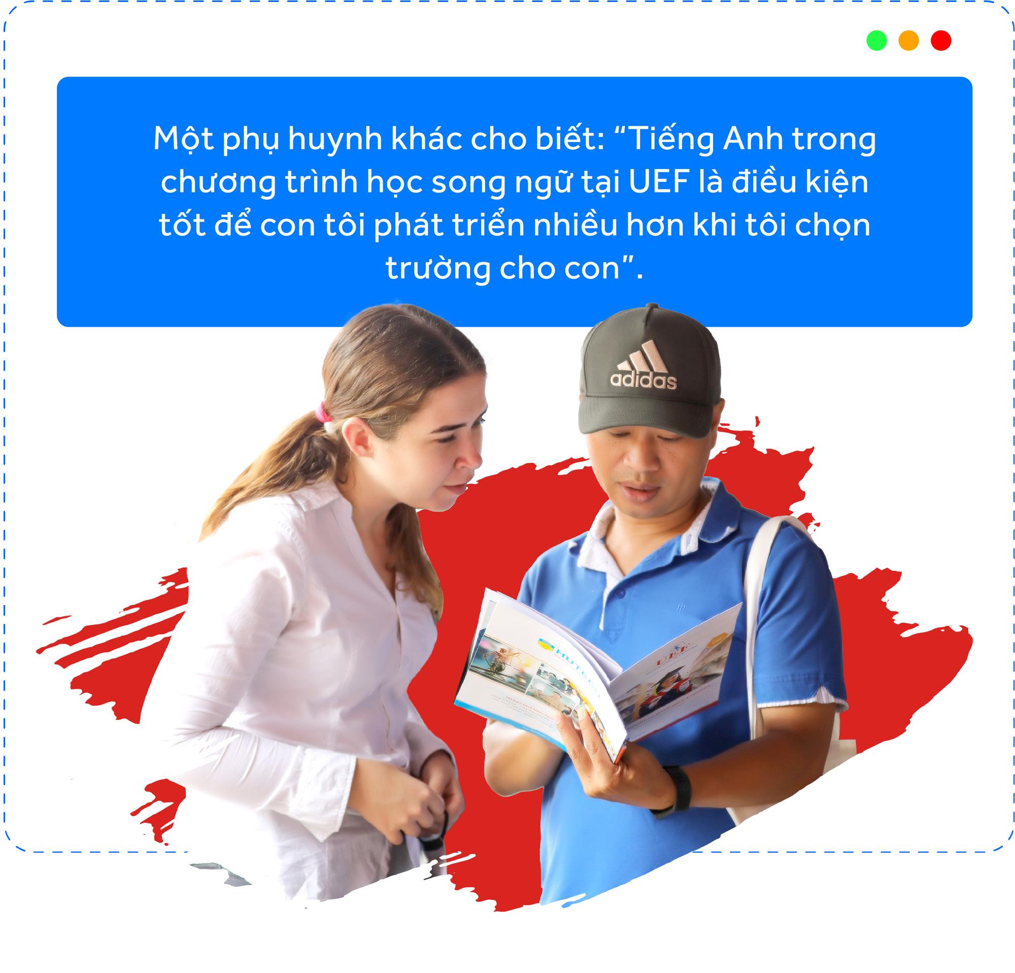 Màu sắc song ngữ, quốc tế: UEF hút thí sinh, phụ huynh - Ảnh 5.