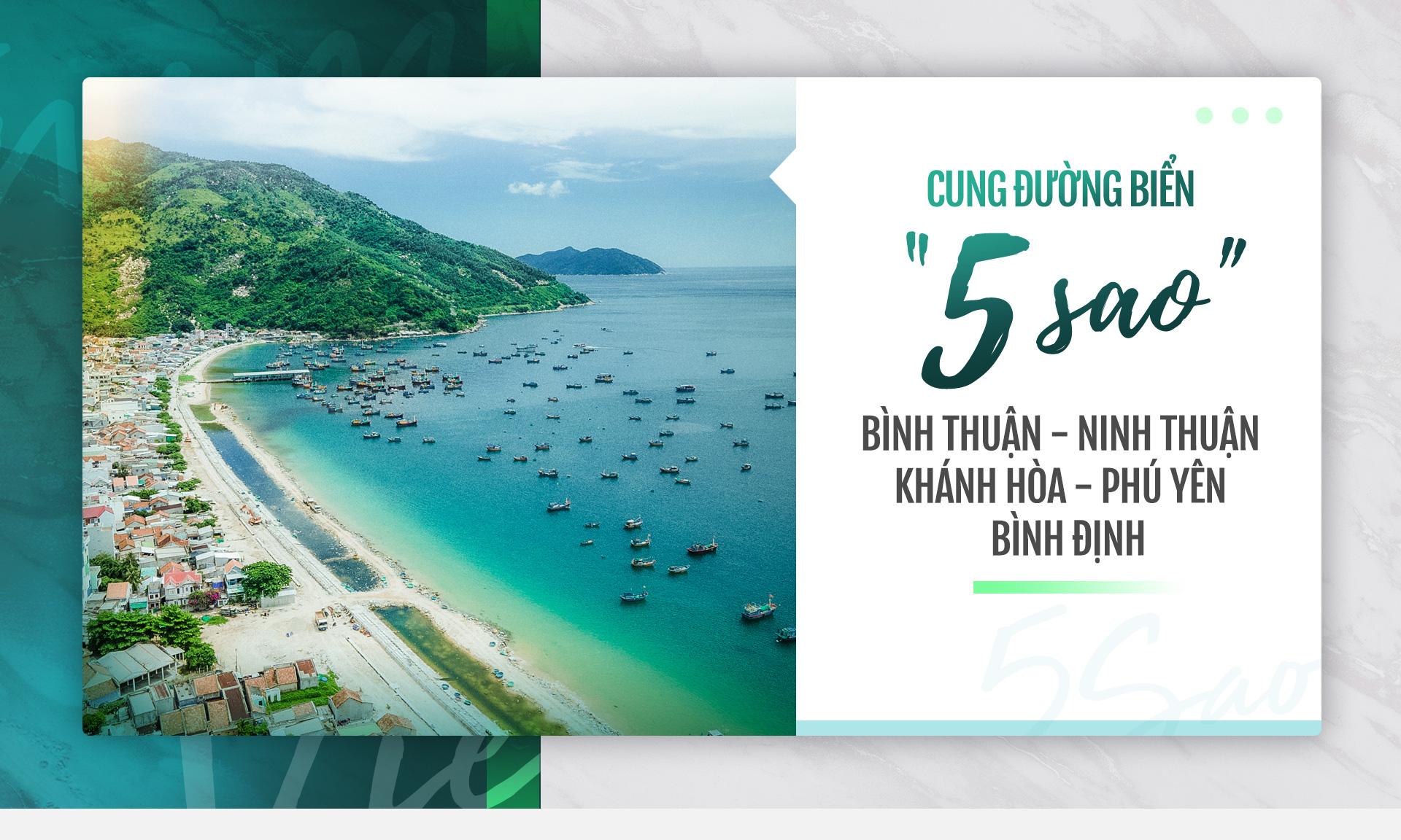 """Cung đường biển """"5 sao"""": Bình Thuận - Ninh Thuận - Khánh Hòa - Phú Yên - Bình Định"""