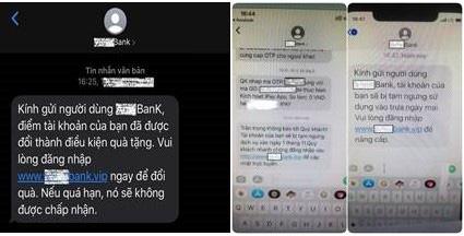 Người dùng dồn dập nhận tin nhắn 'giả' tên thương hiệu ngân hàng - Ảnh 2.