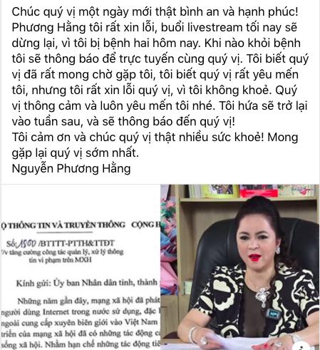 Bà Phương Hằng cam kết thôi không livestream tối nay - Ảnh 1.