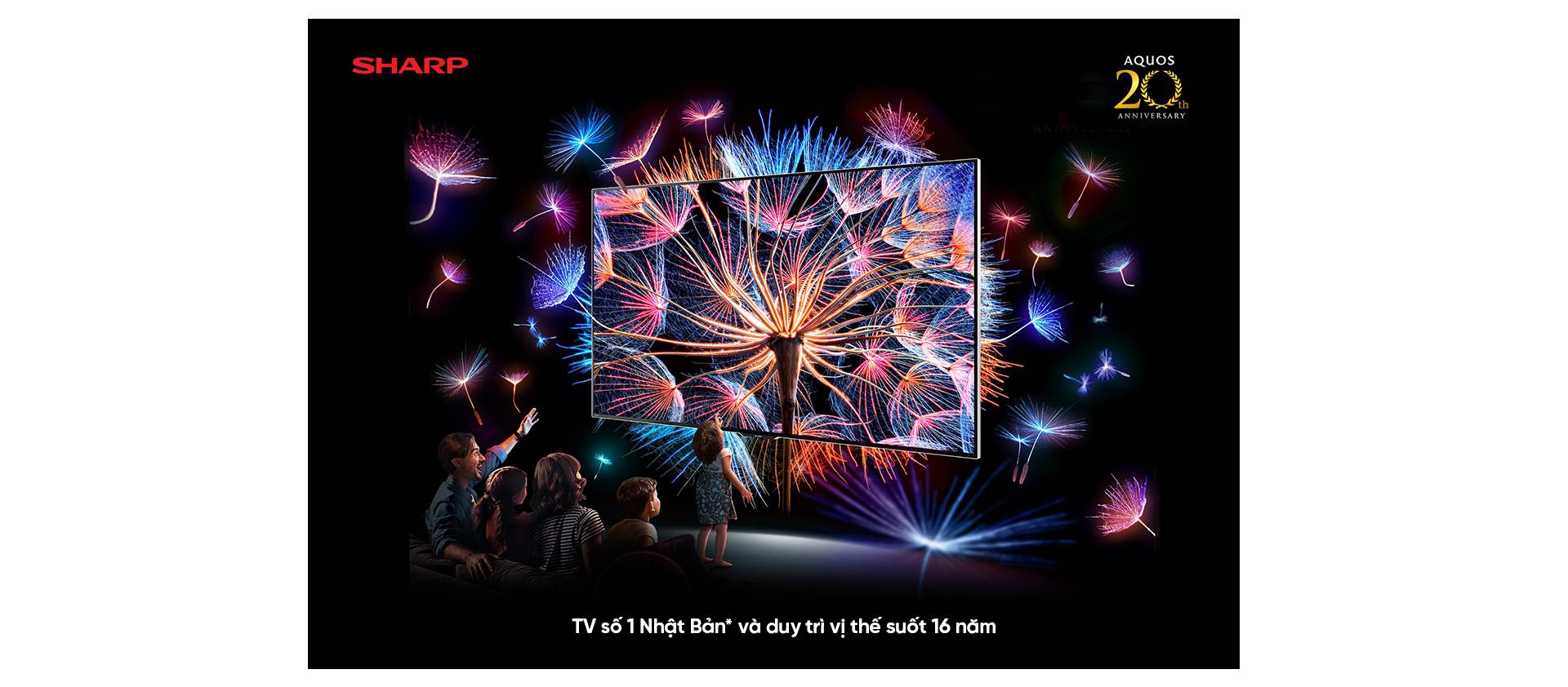 SHARP - 20 năm hành trình thương hiệu TV số 1 NHẬT BẢN * - Ảnh 2.