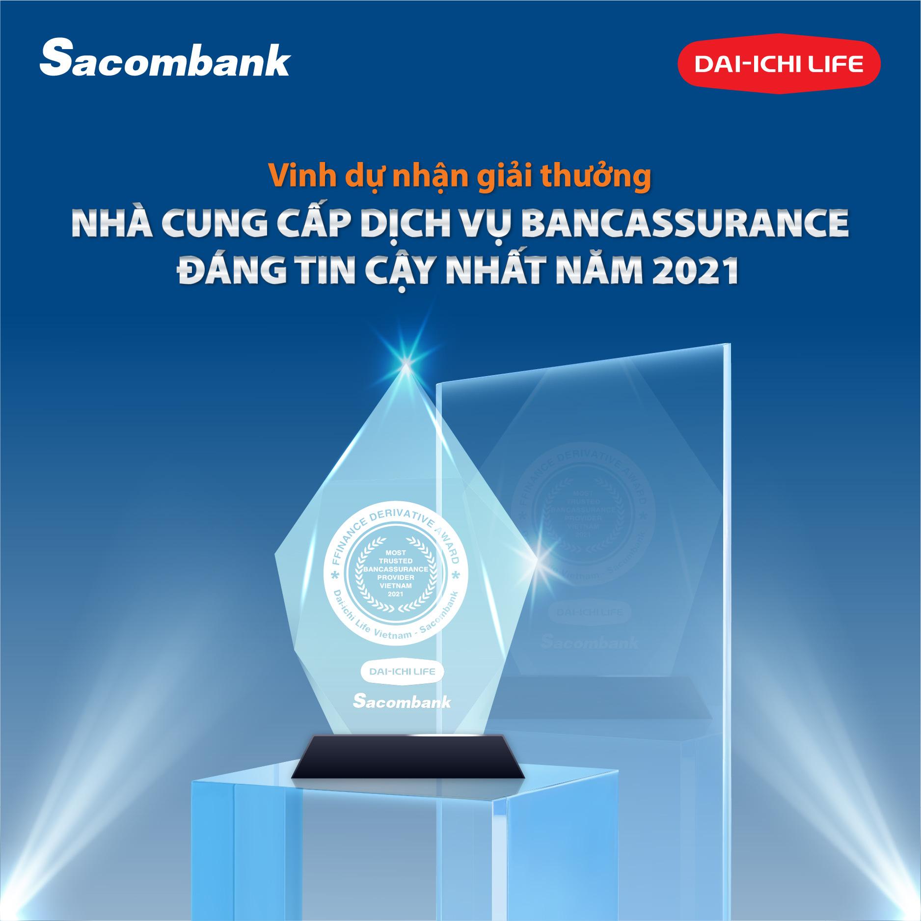 Dai-ichi Việt Nam và Sacombank nhận giải thưởng quốc tế về Bancassurance - Ảnh 1.