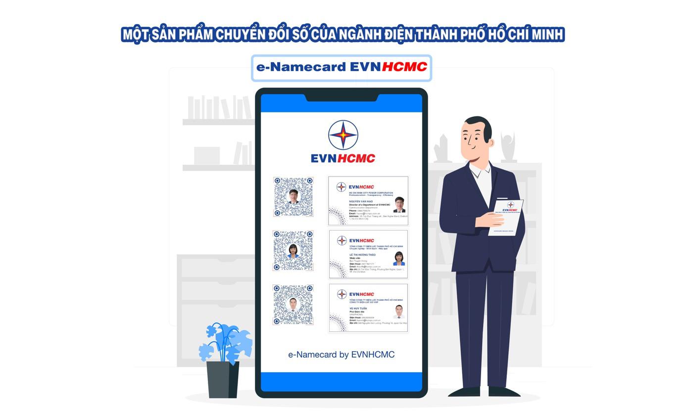 EVNHCMC số hóa hoạt động giao tiếp với danh thiếp điện tử - Ảnh 1.