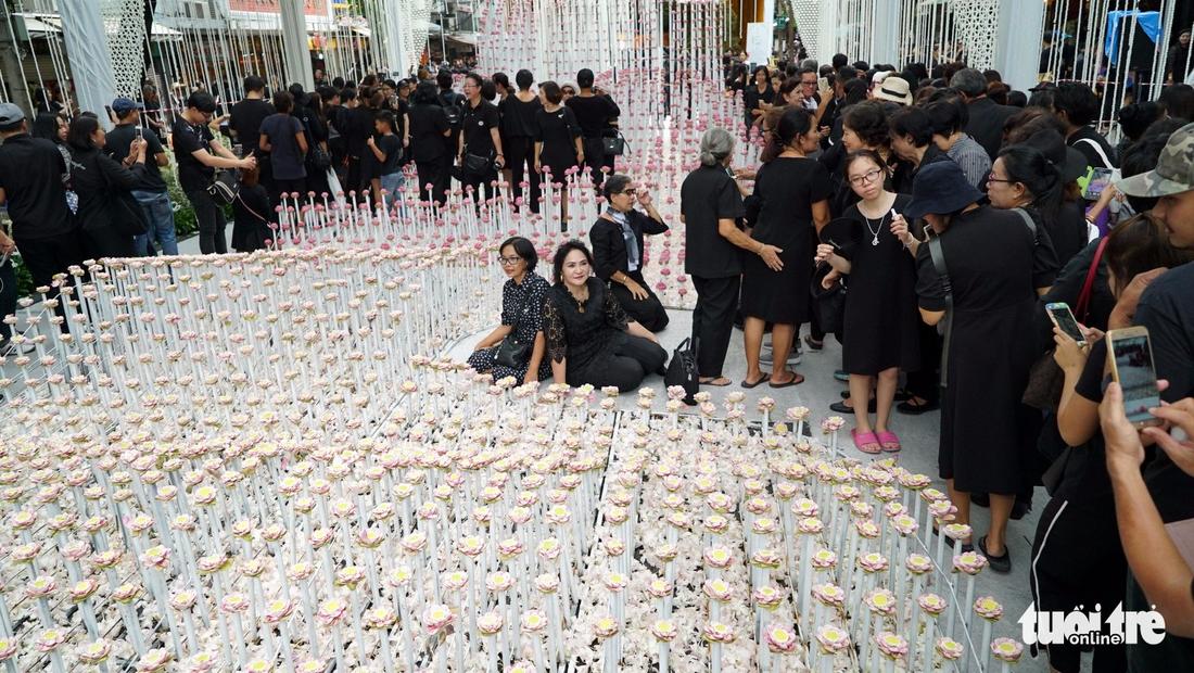 Hàng chục ngàn người Thái xếp hàng nhiều ngày chờ tiễn vua - Ảnh 14.