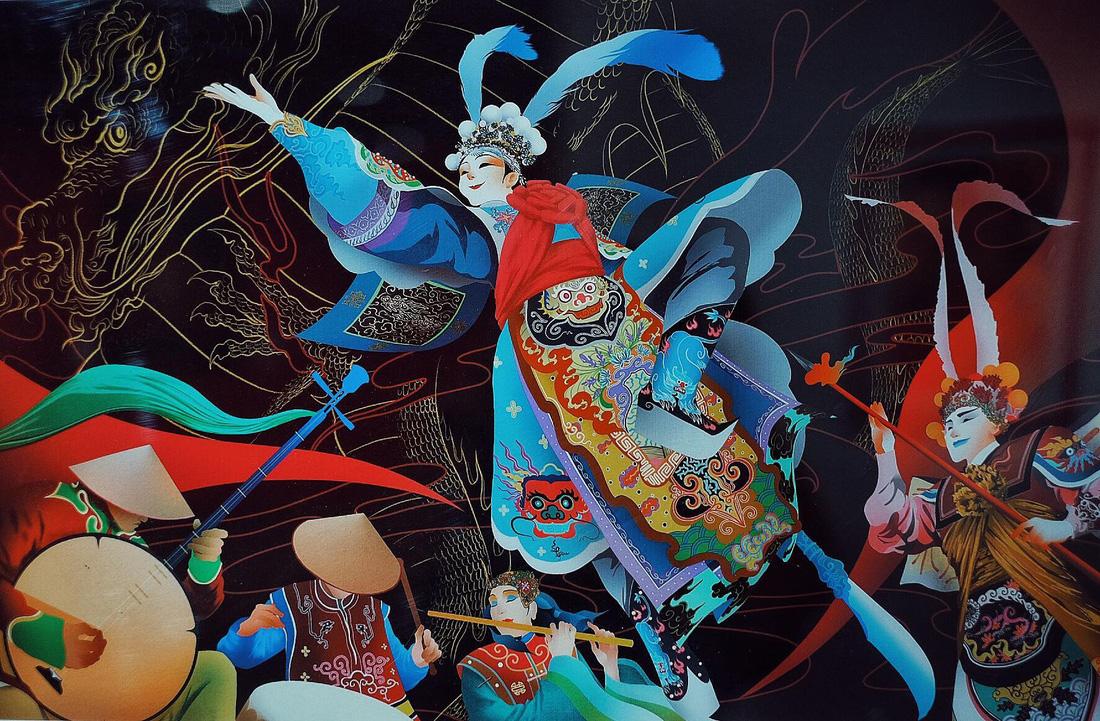 Choáng ngợp với tranh hát bội của các họa sĩ trẻ - Ảnh 9.