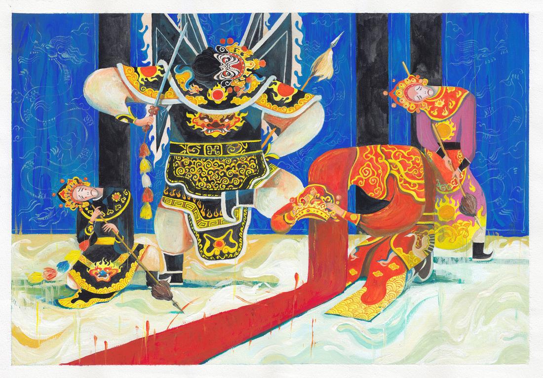 Choáng ngợp với tranh hát bội của các họa sĩ trẻ - Ảnh 11.