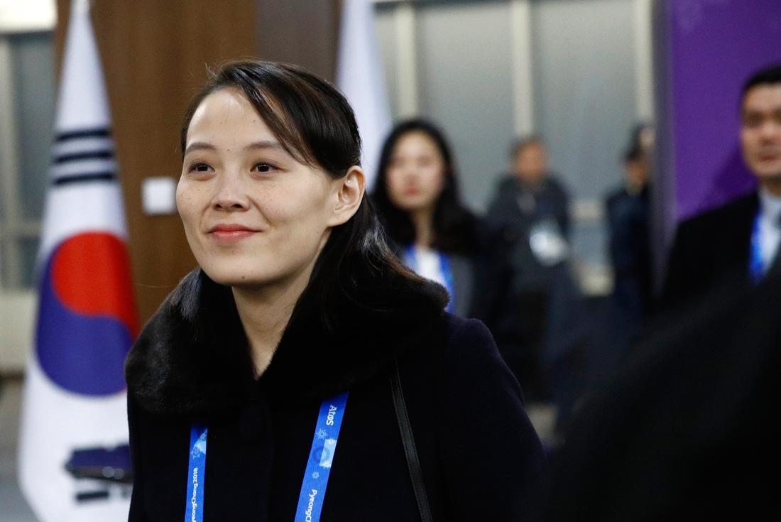 Em gái ông Kim Jong Un được chờ đón hơn sao điện ảnh - Ảnh 2.