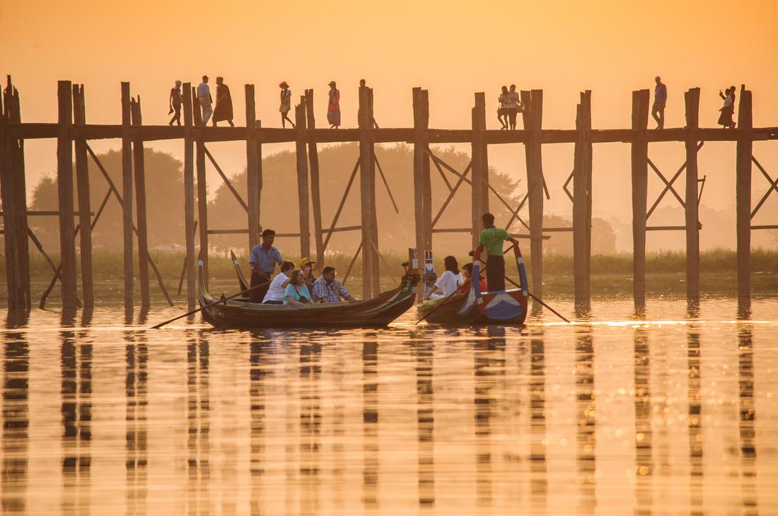 Đi Mandalay ngắm hoàng hôn ở cầu U Bein - Ảnh 10.