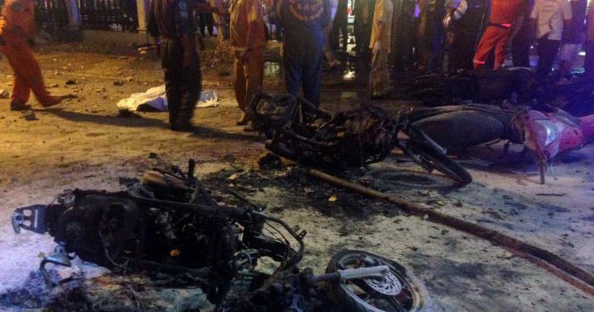 Đánh bom bằng xe máy ở Thái Lan, ít nhất 3 người chết