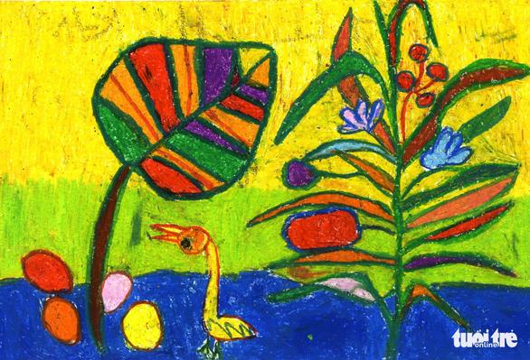 Những bức tranh hi vọng vẽ từ giường bệnh nhi ung thư - Ảnh 12.