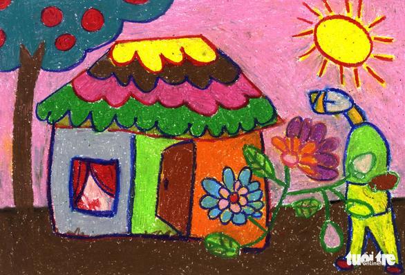 Những bức tranh hi vọng vẽ từ giường bệnh nhi ung thư - Ảnh 9.