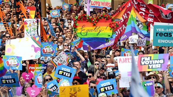 Lễ ăn mừng cầu vồng của người đồng tính Úc - Ảnh 12.