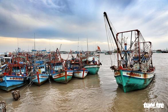 Ngư dân Cà Mau hối hả vào bờ trú bão - Ảnh 2.