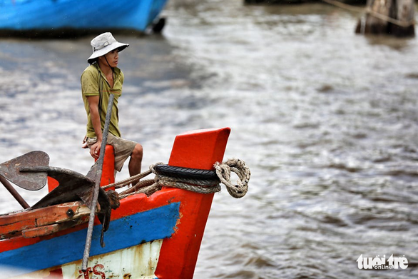 Ngư dân Cà Mau hối hả vào bờ trú bão - Ảnh 3.