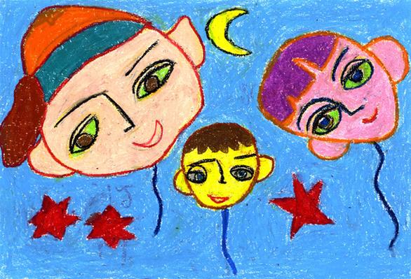 Những bức tranh hi vọng vẽ từ giường bệnh nhi ung thư - Ảnh 1.