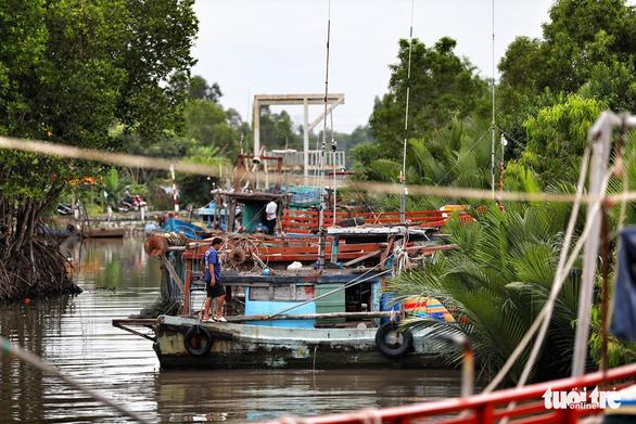 Ngư dân Cà Mau hối hả vào bờ trú bão - Ảnh 10.