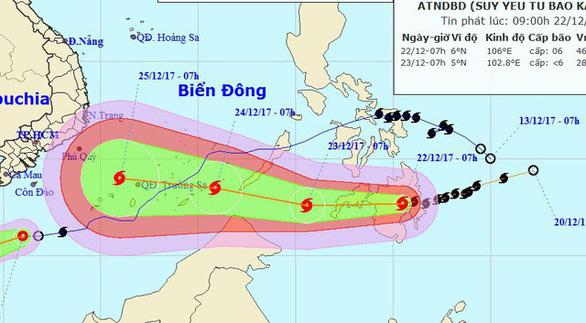 4 ngày phức tạp và nguy hiểm của bão Tembin - Ảnh 4.