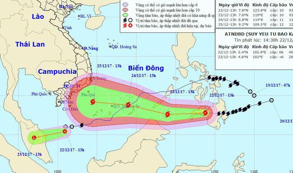 4 ngày phức tạp và nguy hiểm của bão Tembin - Ảnh 3.