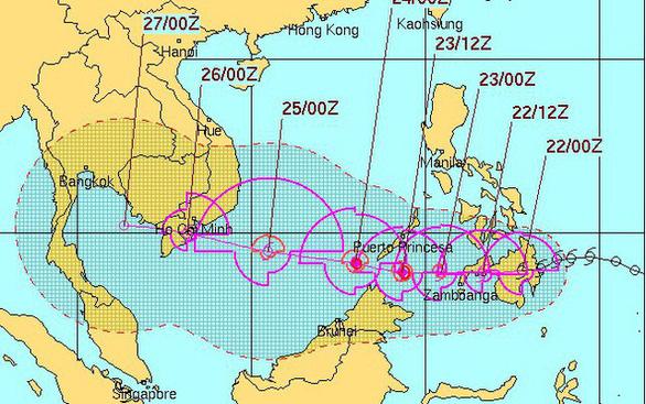 4 ngày phức tạp và nguy hiểm của bão Tembin - Ảnh 2.