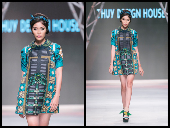 Ngô Thanh Vân đưa thời trang Cô Ba Sài Gòn lên sàn catwalk  - Ảnh 4.