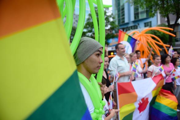 Sắc màu rực rỡ của tình yêu tràn ra phố đi bộ Nguyễn Huệ - Ảnh 8.