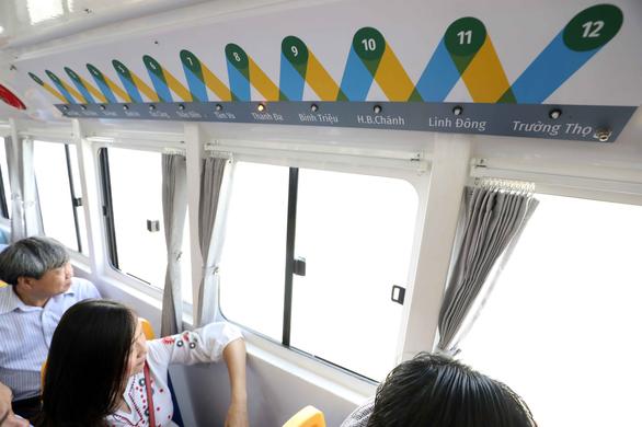 Tuyến buýt sông đầu tiên ở Sài Gòn chính thức hoạt động - Ảnh 14.