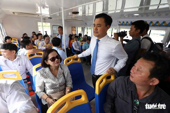 Tuyến buýt sông đầu tiên ở Sài Gòn chính thức hoạt động - Ảnh 11.