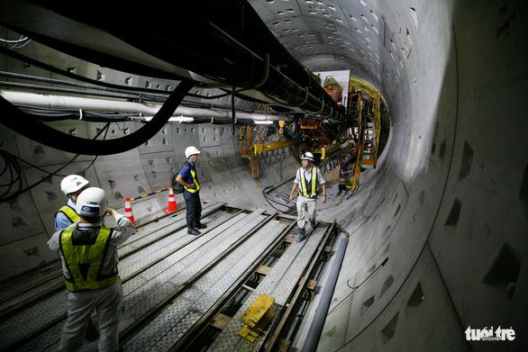Robot TBM sắp thông đường hầm đầu tiên tuyến metro số 1 - Ảnh 4.