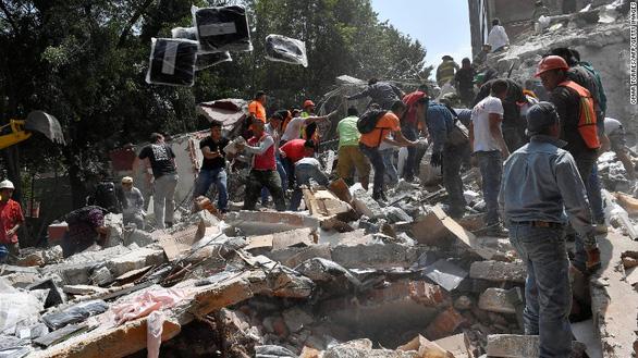 Động đất lớn ở Mexico, hơn 110 người chết - Ảnh 2.