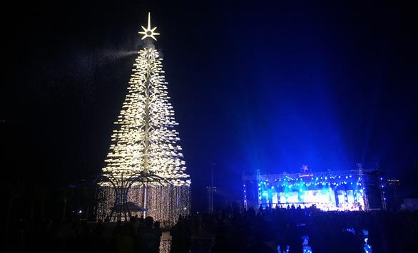 Cây thông cao nhất Việt Nam bừng sáng dịp Noel - Ảnh 1.