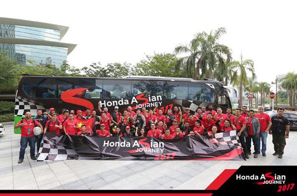 Honda Việt Nam tham gia hành trình châu Á Honda Asian Journey 2017 - Ảnh 1.