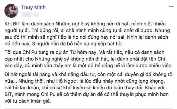 Chi Pu hát, không chỉ có Hương Tràm chê - Ảnh 3.
