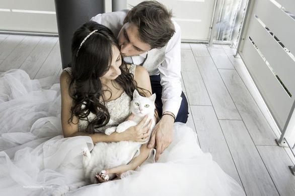 Ảnh cưới dễ thương chụp cùng mèo cưng - Ảnh 3.